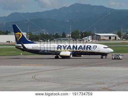Ryanair Boeing 737-8As Parked In Bergamo Orio Al Serio