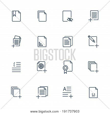 Set Document Icons, Paper Icons