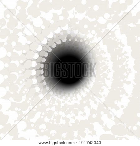 Whirlpool, Black Hole. Abstract Spiral, Vortex Shape, Element