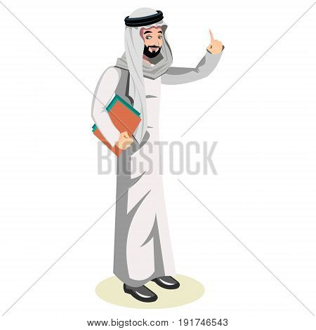 Arab man character. Arab vector illusation on white background