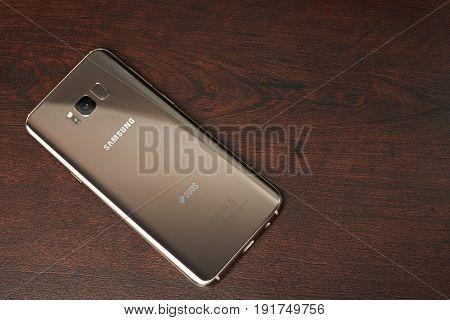 Gold Color Samsung S8 Plus Smartphone