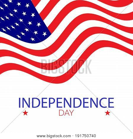 American independence day illustration. Usable for posters cards baners