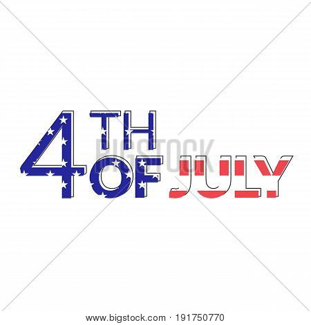 USA Independence Day illustration. American 4th July Vector greeting card and poster design