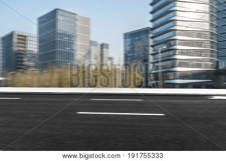 empty asphalt urban street,shot in shanghai,china .