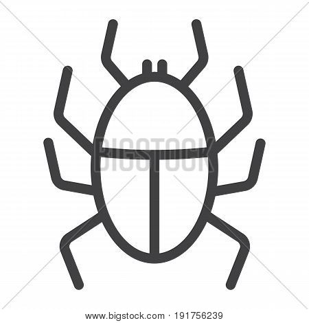 Virus line icon, infection and security, vector graphics, a linear pattern on a white background, eps 10.