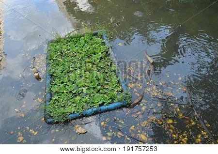 Environment problem, waste water, industrial sewage background