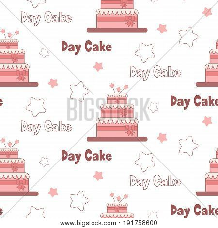 A festive poster to the International Day of cake.Sweet seamless vector pattern. Seamless pattern can be used for Wallpaper pattern fills background of web page surface textures.