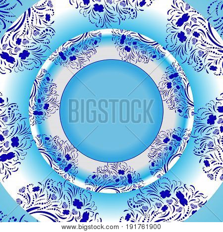 Vector light blue template for greeting card, invatation