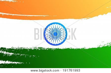 India flag. Template for card, invitation, flyer for India national holidays.15th of August India Independence Day
