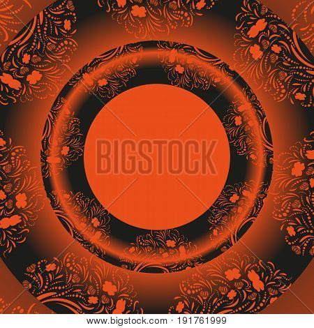 Vector dark orange and black template for greeting card, invatation