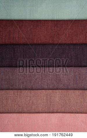 tissue samples of different colors -macro photo