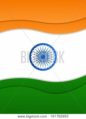 India Independence Day. Paper cut card, poster, banner for India National holidays. 15th of August India holiday.