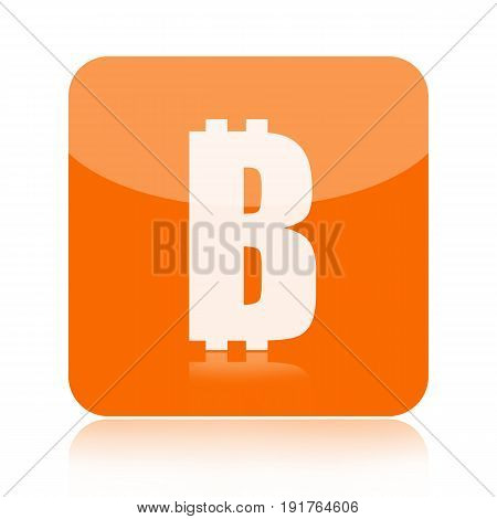Bitcoin crypto currency icon isolated on white background