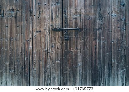 wooden door of traditional house in ancient village of AnhuiChina.