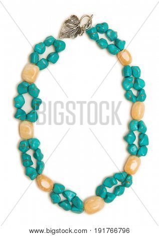 Nice necklace isolated on white background