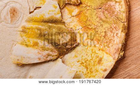 Rotten Bread On Table.