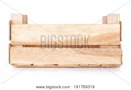 new wooden crate isolated on white background