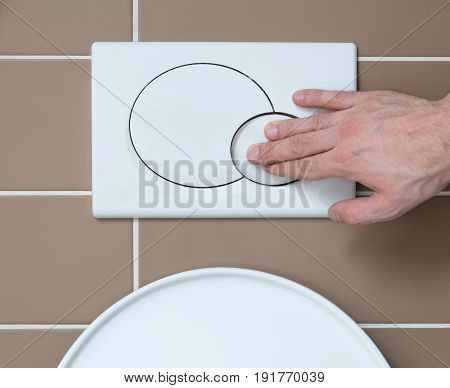 Economic Toilet Flush Press