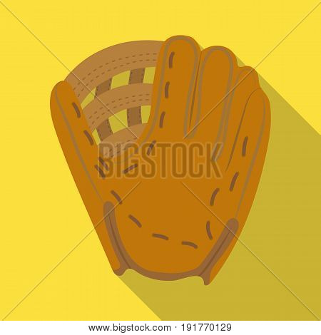 Glove trap. Baseball single icon in flat style vector symbol stock illustration .
