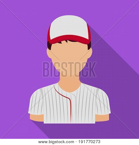 Baseball player. Baseball single icon in flat style vector symbol stock illustration .