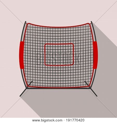 Protective fencing.Baseball single icon in flat style vector symbol stock illustration .