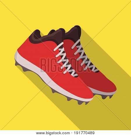 Baseball Sneakers. Baseball single icon in flat style vector symbol stock illustration .