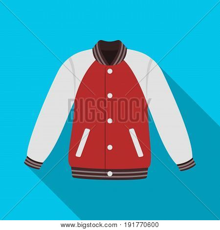 Uniform baseball jacket. Baseball single icon in flat style vector symbol stock illustration .
