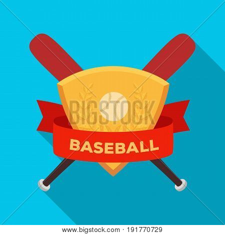 Emblem. Baseball single icon in flat style vector symbol stock illustration .