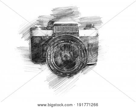 hand drawn photo camera