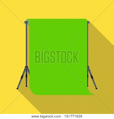 Background stand, hromakey. Making a movie single icon in flat style vector symbol stock illustration .