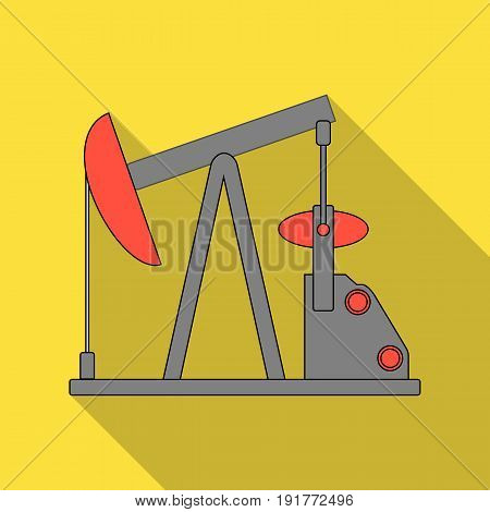 Oil pump.Oil single icon in flat style vector symbol stock illustration .