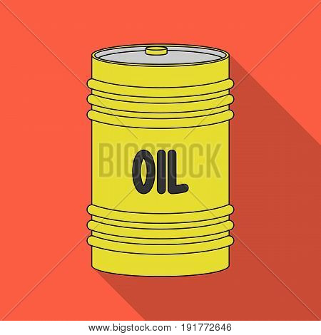 Barrel of oil.Oil single icon in flat style vector symbol stock illustration .