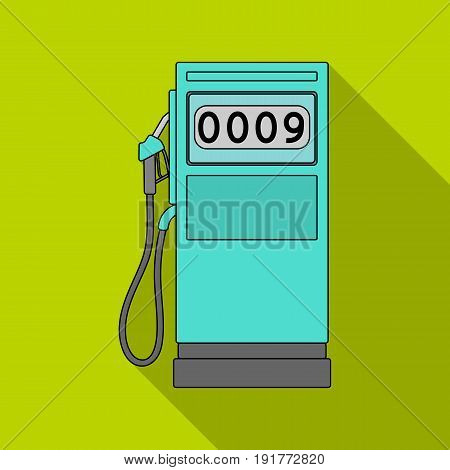 Petrol filling station.Oil single icon in flat style vector symbol stock illustration .
