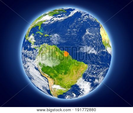 French Guiana On Planet Earth