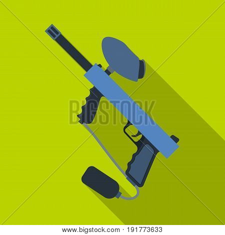 Marker for paintball.Paintball single icon in flat style vector symbol stock illustration .