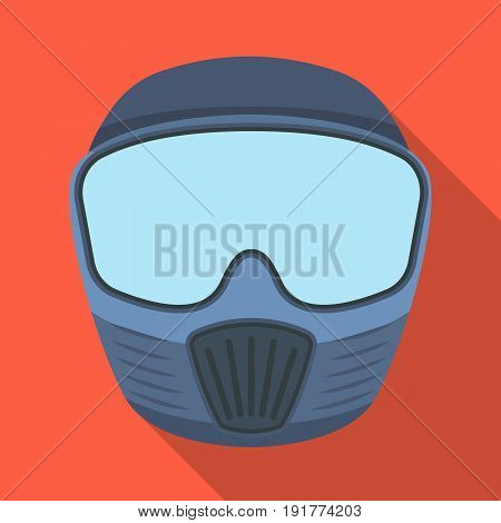 Protective mask.Paintball single icon in flat style vector symbol stock illustration .