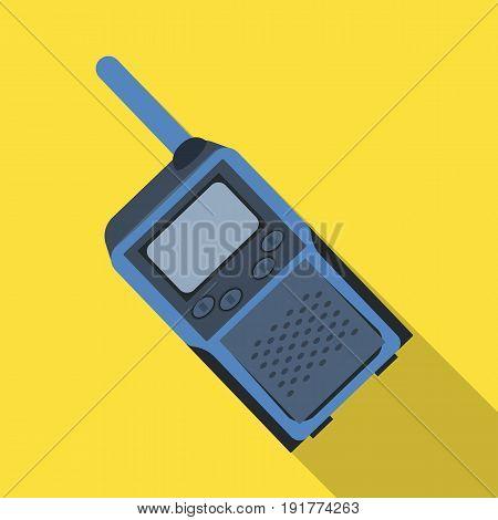 Walkie-talkie.Paintball single icon in flat style vector symbol stock illustration .
