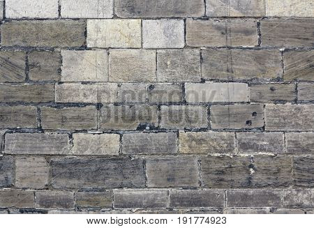 Detail of the surface of stone wall