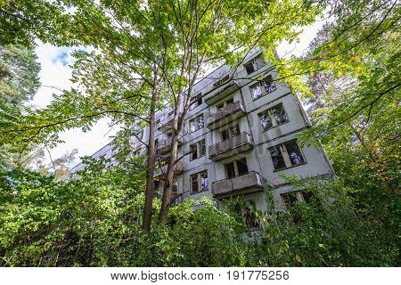 Abandoned military town called Chernobyl-2 in Chernobyl Exclusion Zone Ukraine