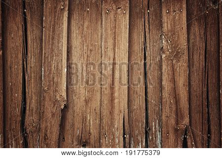 The brown old wooden background texture wall