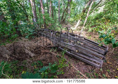 Children playground in abandoned military town called Chernobyl-2 in Chernobyl Exclusion Zone Ukraine