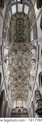 Vaults ceilings in Saint Barbara Church in Kutna Hora - one of the most famous Gothic churches in central Europe