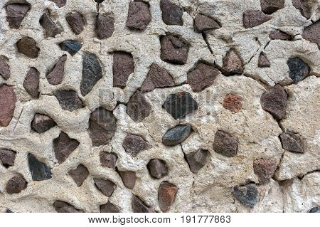 Background of stone wall texture photo .
