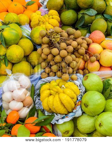 Exotic Fruits And Eggs