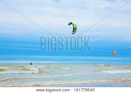 Atlantic Ocean North Sea beach wind waves.