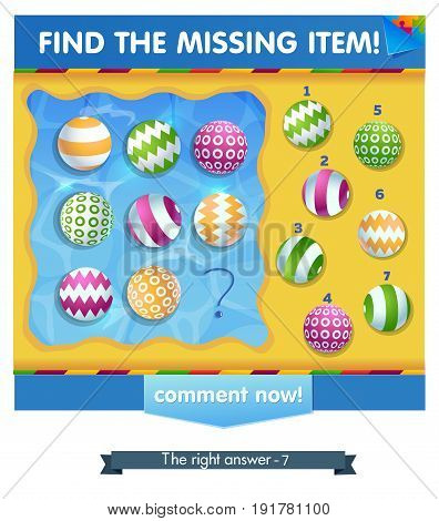Ball Summer Find The Missing Item