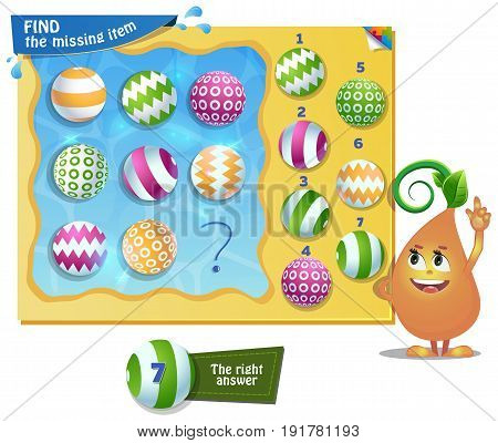 Find The Missing Item Ball Summer
