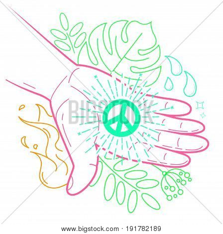Hand With The Symbol Of Peace
