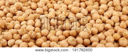 Dried Chickpea Beans Close Up Background