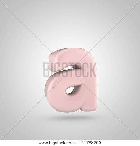 Millennium Pink Color Letter A Lowercase Isolated On White Background